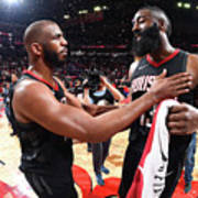 Chris Paul and James Harden Poster