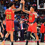 Kent Bazemore and John Collins Poster