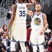 Stephen Curry and Kevin Durant Poster