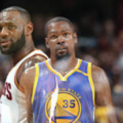 Kevin Durant and Lebron James Poster