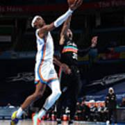 San Antonio Spurs v Oklahoma City Thunder Poster