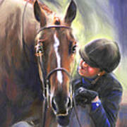 A Secret Shared Hunter Horse With Girl Poster