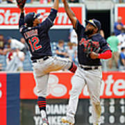 Abraham Almonte and Francisco Lindor Poster