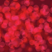 Abstract Red Bokeh Background Poster