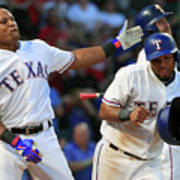 Adrian Beltre and Elvis Andrus Poster
