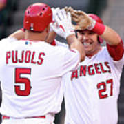 Albert Pujols and Mike Trout Poster