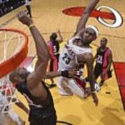 Alonzo Mourning and Lebron James Poster