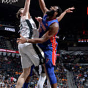 Andre Drummond and Jakob Poeltl Poster