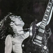 Angus Young 1981 ACDC Poster