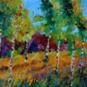 Aspen trees in autumn Poster