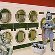 At the Laundromat with Boba Fett Poster