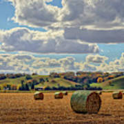 Autumn Valley Bales Poster