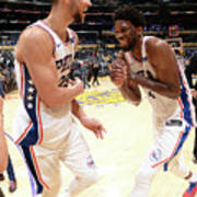 Ben Simmons and Joel Embiid Poster