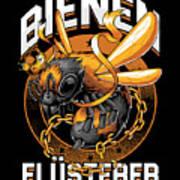 Bienen Flsterer Bee Beekeeper Honeycomb Gift Poster
