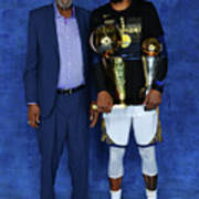 Bill Russell and Kevin Durant Poster