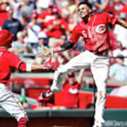 Billy Hamilton and Joey Votto Poster