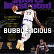 Bubble-icious Los Angeles Lakers NBA Championship Sports Illustrated Cover Poster