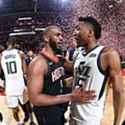 Chris Paul and Donovan Mitchell Poster