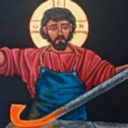 Christ Swords into Plowshares Poster