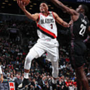 C.j. Mccollum and Caris Levert Poster