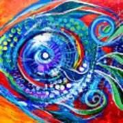 Colorful Comeback Fish Poster