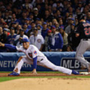 Corey Kluber, Anthony Rizzo, and Kris Bryant Poster