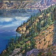 Crater Lake Overlook Poster