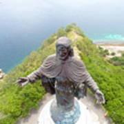 Cristo Rei of Dili statue of Jesus Poster