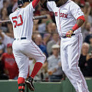 David Ortiz and Mookie Betts Poster