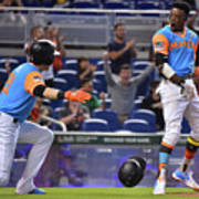 Dee Gordon And Christian Yelich Poster