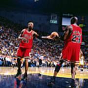 Dennis Rodman and Michael Jordan Poster
