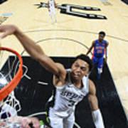 Detroit Pistons v San Antonio Spurs Poster