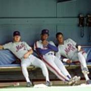 Dwight Gooden, Darryl Strawberry, and Lenny Dykstra Poster