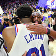 Dwyane Wade and Joel Embiid Poster