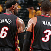 Dwyane Wade and Lebron James Poster