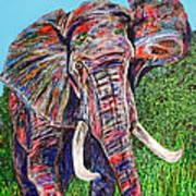 Elephant Aura Poster