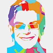 Elton John 1 POP ART Poster