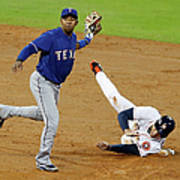 Elvis Andrus And George Springer Poster