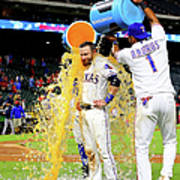 Elvis Andrus and Jonathan Lucroy Poster