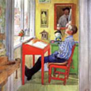 Esbjorn Doing his Homework Poster
