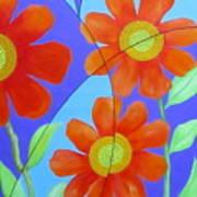 Fractal Floral Summer Poster