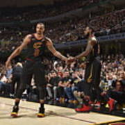 George Hill and Lebron James Poster