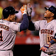 George Springer and Luis Valbuena Poster