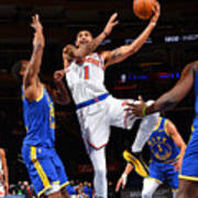 Golden State Warriors v New York Knicks Poster