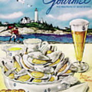 Gourmet Cover of Clams and Beer Poster