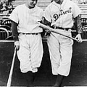 Hank Greenberg and Lou Gehrig Poster