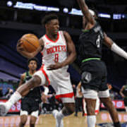 Houston Rockets v Minnesota Timberwolves Poster