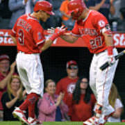 Ian Kinsler and Mike Trout Poster