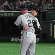 Ichiro Suzuki And Scott Servais Poster
