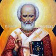 icon of St Nicholas the Wonderworker Poster